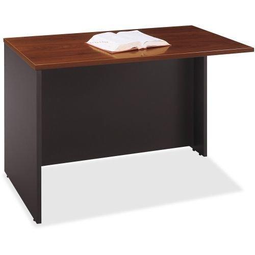 Bush Business Furniture Components Return Bridge, 48''W, Hansen Cherry/Graphite Gray, Standard Delivery by Bush Business Furniture