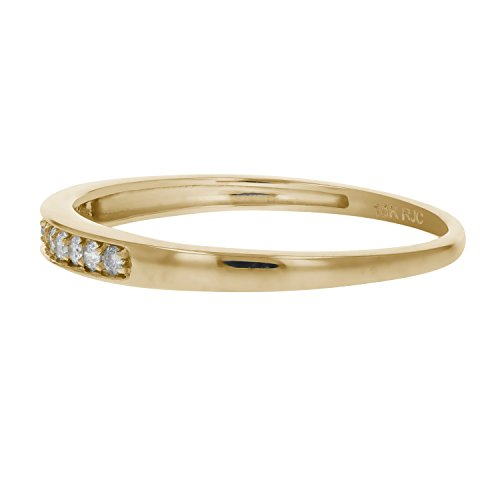 1/10 ctw Petite Diamond Wedding Band in 10K Yellow Gold In Size 9.5 by Vir Jewels (Image #1)