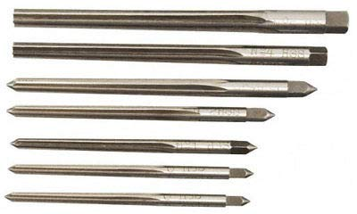 Factory HSS Taper Pin Reamer set of 7Pcs 7/0-0 by Factory