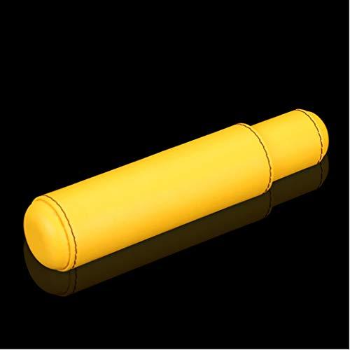 LHFJ Cigar Case Cowhide Leather Portable Travel Cigar Tube Cigar Humidor Single Cigar by LHFJ (Image #1)