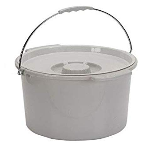 Drive Medical Commode Bucket with Metal Handle and Cover - Each