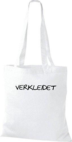 Shirtinstyle - Bolso de tela de algodón para mujer blanco - blanco