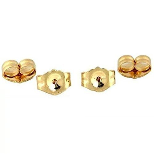 JBENG 14K Yellow Gold Earring Backs (4-Piece) 14k Yellow Gold Replacement