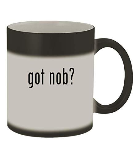 got nob? - 11oz Color Changing Sturdy Ceramic Coffee Cup Mug, Matte Black
