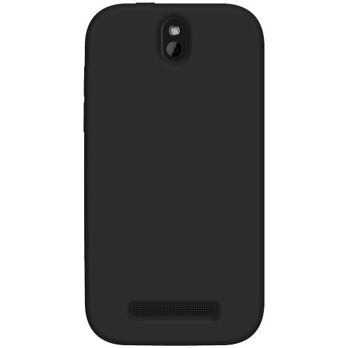 Amzer AMZ95615 Soft Silicone Jelly Skin Fit Case Cover for HTC One SV, Cricket HTC One SV, Boost Mobile HTC One SV - 1 Pack - Skin - Retail Packaging - Black (Wallet Phone Cases For Htc One Sv)