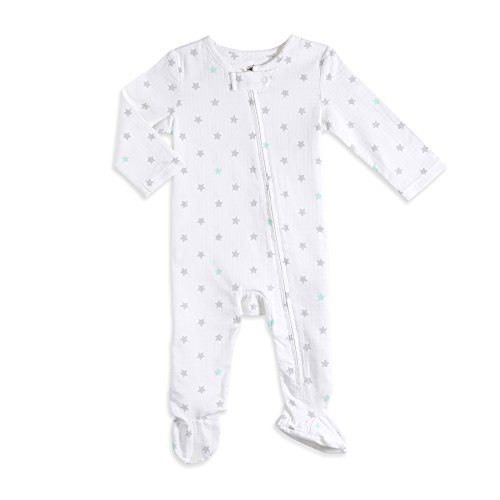 aden by aden + anais Baby Long Sleeve One-Piece, Stars/Neutral, 3-6M