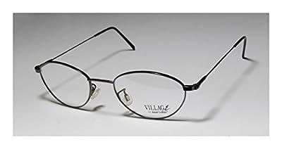 Marcolin Village 47 6395 Mens/Womens Rx Ready Upscale Designer Designer Full-rim Flexible Hinges Eyeglasses/Eyewear
