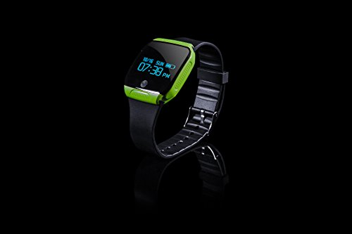 Treadmill Quickstart - Fusion5 Fitness Activity Tracker Watch and Bluetooth Smartwatch for Android and iOS (GREEN)