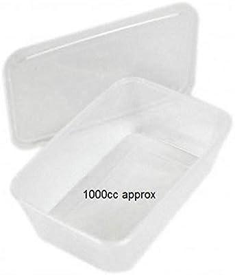 Micro Recipientes con tapas 1000 cc plástico Cubos caja de ...