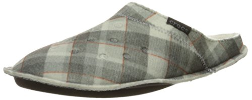 CROCS - CLASSIC PLAID SLIPPER - black oatmeal Nero/Grigio giallastro
