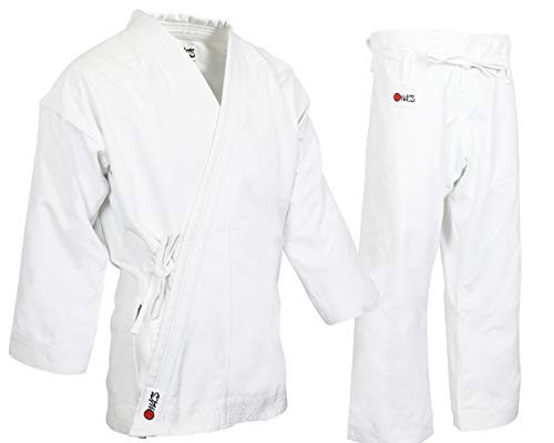- MACS Super Heavyweight Karate Uniform - White Professional Kimono - Advanced 100% Cotton 14oz Karate Gi - Perfect for Competition or Training (5)