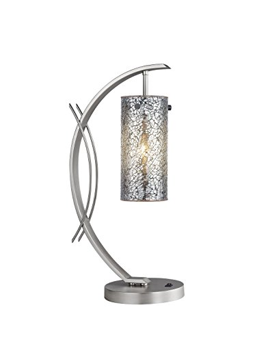Woodbridge Lighting 13482STN-M10MIR Eclipse 13482MEB-M10MIR Table Lamp, Mosaic Mirror