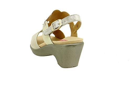 plantilla 8857 confort de Calzado cu Piesanto sandalia piel extra mujer a zwq6gR