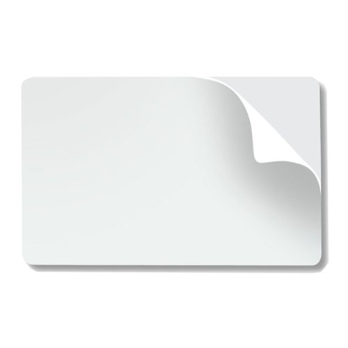 (CR80 10 Mil Mylar Adhesive Backed PVC Cards - 500 Pack - CR8010MYAB)