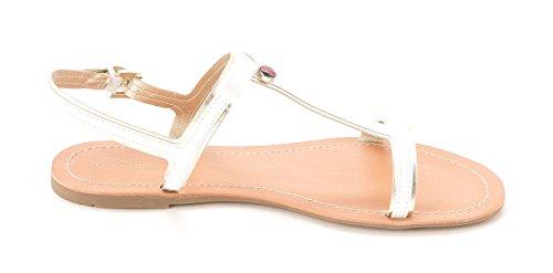 Tommy Hilfiger - Sandalias de vestir para mujer blanco/multicolor