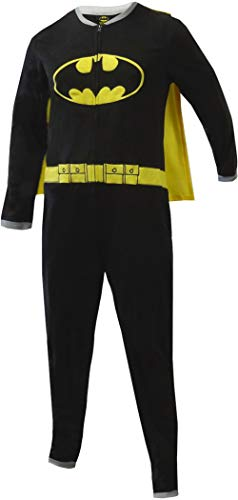 BioWorld Merchandising Batman Onesie Fleece Pajama with Cape for men (Medium) ()