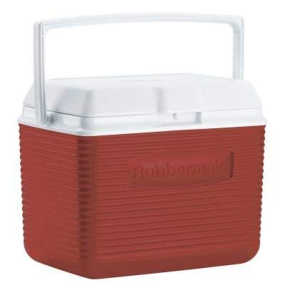 Rubbermaid 10 Qt. Red Chest Cooler Holds 12 Cans Plus Ice ()