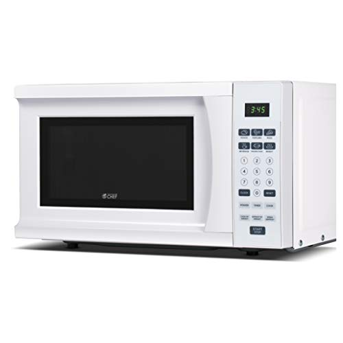 Commercial Chef CHM770W 700 Watt Counter Top Microwave Oven, 0.7 Cubic Feet, White Cabinet