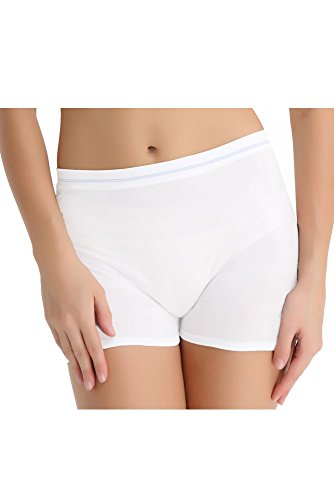 Molly High Waist Seamless Mesh Disposable Delivery Panty (S/M, White- 6-pack)