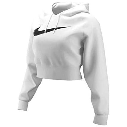 Nike Swoosh Hoodie Crop Ft Felpa con Cappuccio Donna