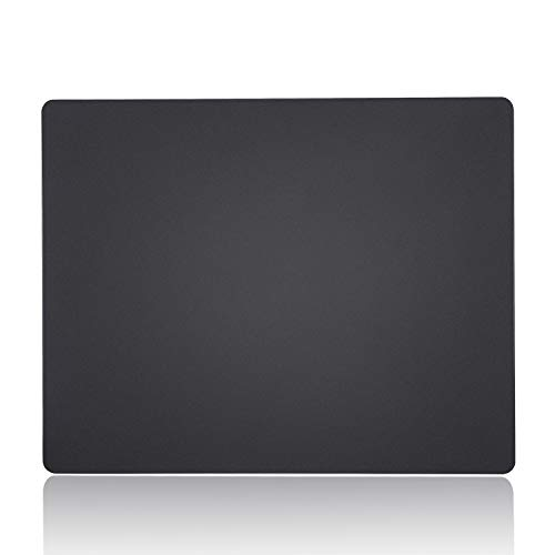 (Bitechpro Computer Mouse Pad,Plastic Surface,Accurant and Smooth, Healthy Material, Ultra Thin for Laptop, PC and Computer, Medium 11 by 9.4 in Black)