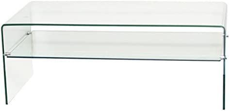 Fab Glass and Mirror 3 8 Thick, Clear Bent Glass Coffee Table