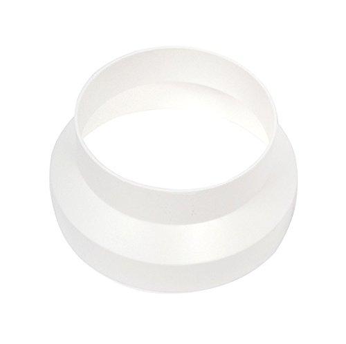 Invero® Straight 125mm to 100mm Ducting Reducer / Adaptor White Invero®