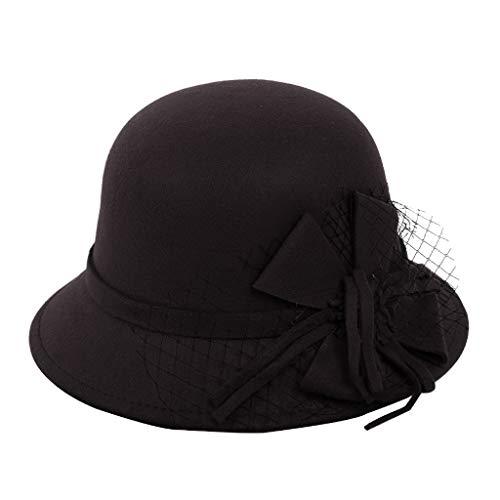 Kolylong Winter Hat Autumn Winter Casual Hat Dome British Top Hat