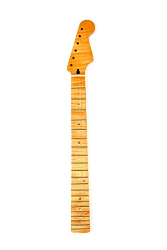 - Gourd Electric Guitar Stratocaster Neck With Lacquer Finish, 21 Fret, Maple Fingerboard