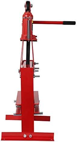 con Acero de Alta Resistencia Rojo Prensa Hidr/áulica de Taller Prensa Taller con Bomba Hidr/áulica Separada Prensa Hidraulica Taller 12T Fuerza de Presi/ón Mophorn Taller Prensa Hidraulica 12T