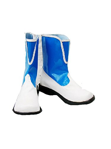 Rikku Cosplay Costume (Final Fantasy 10 X-2 Rikku Blue White cosplay costume Boots Boot Shoes Shoe)