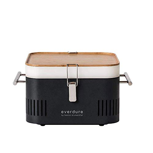 Everdure Cube Portable Charcoal Grill (HBCUBEGUS), Graphite, 15-Inches