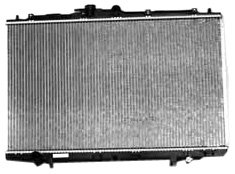 TYC 2375 Acura CL 1-Row Plastic Aluminum Replacement Radiator (Acura Cl Radiator Replacement)