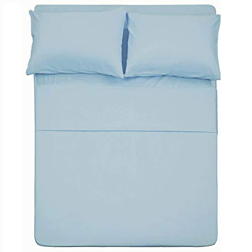 City Linens ! Luxurious Sheets ! 18 Inch Extra Deep Pocket Full XL Camper Sheet Set (53x79) for RV- Trucks, Campers and Motorhomes Solid Baby Blue - 1800 Series Brushed Microfiber Sheets (53 Series Baby Mattress)