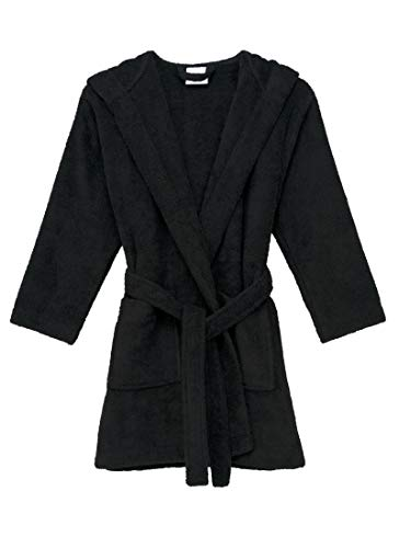 TowelSelections Big Girls Robe, Kids Hooded Cotton Terry Bathrobe Cover-up Size 8 Moonless Night - Hooded Print Coat