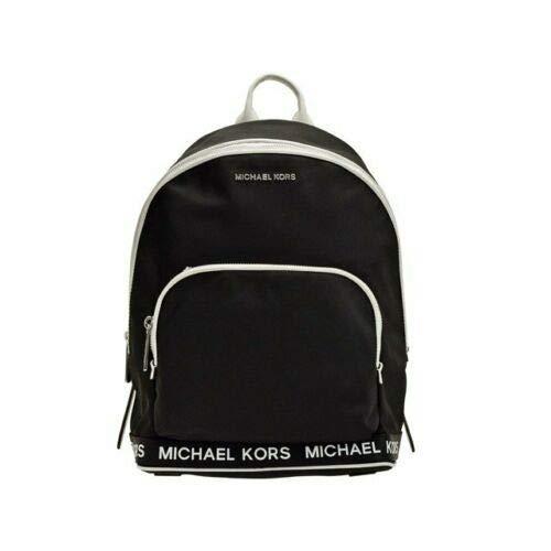 Michael Kors Connie Black Optic White Nylon Medium Sport Logo Backpack