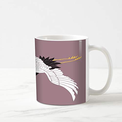Ahawoso Coffee Tea Mug 11 Ounces Red Bird White Crane for sale  Delivered anywhere in USA