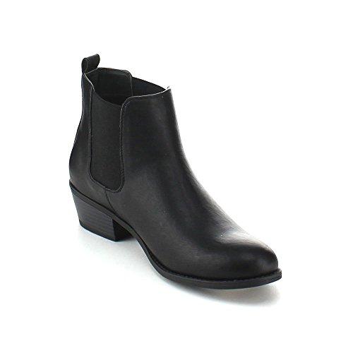 Refresh Tildon-02 Women's Almond Toe Simple Flat Heel Ankle