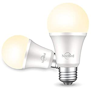 Best Epic Trends 31lkO9y3Q-L._SS300_ NiteBird Smart Light Bulb Works with Alexa and Google Home, No Hub Required, WiFi Dimmable 800 Lumen Warm White A19 E26…