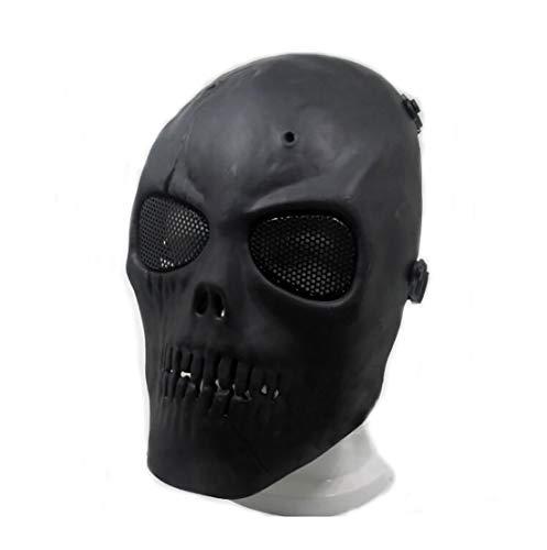 Masque de protection CS Masque de squelette crâne complet Airsoft Paintball de Airsoft Noir 3