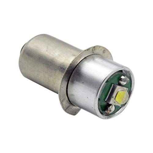 (Ruiandsion 1pcs P13.5S LED Flashlight Bulb 3W CREE LED for Torchlight Flashlight Torch Headlight Bulb, 200LM, DC 3V-18V 3000K Warm White,Negative Ground (Warm White))