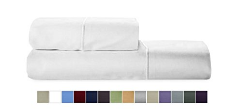 AUDLEY HOME 800tc Egyptian cotton solid sateen 2-piece King Pillowcases with Marrow stitch- (800tc Pillowcases)