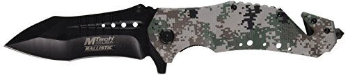MTech USA MT-A845DG Spring Assist Folding Knife, Black Blade, Digital Camo Handle, 5-Inch Closed -
