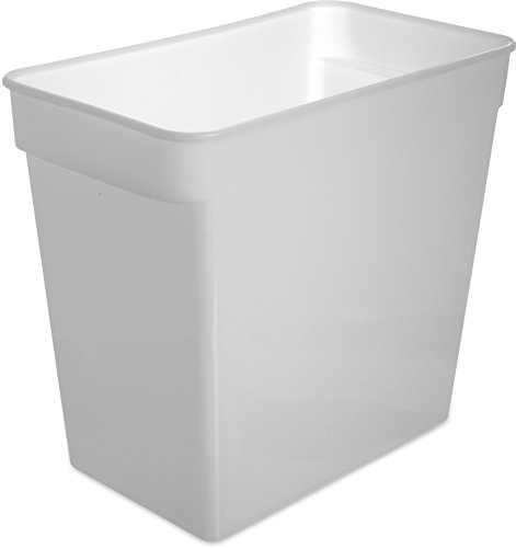 Carlisle 162902 StorPlus Square Food Storage Container, 18 Quart, White by Carlisle