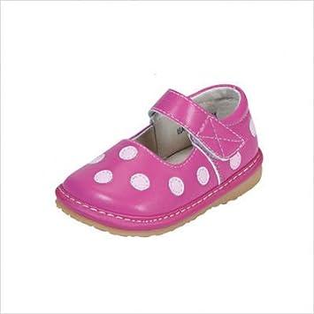 Amazon.com: Squeak Me ZAPATOS 1327 niña lunares Mary Jane: Baby