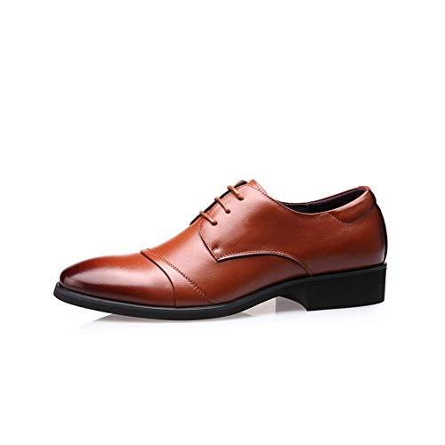 De LYZGF Y Casual Primavera Acentuado Zapatos Moda Negocios Otoño Cuero Cordones Juventud Brown Hombres qRxqPw1a