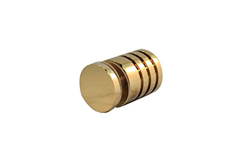- Glass Shower Sliding Door Single Knob Mount Handle Heavy Duty (Polished Brass)