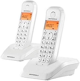 Motorola S12 Duo - Teléfono (Teléfono DECT, Escritorio, Blanco, Digital, Multi, LCD)