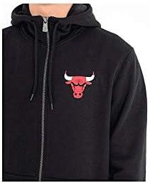 New Era Chicago Bulls Team Apparel Full-Zip NBA Hoodie Schwarz