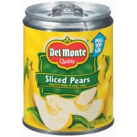 Del Monte: Sliced Bartlett In Heavy Syrup w/Pull-Top Lid Pears, 8.5 Oz